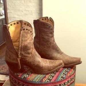 Tony Lama shorty boots 6.5